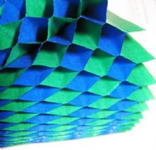 Honeycomb Paper x 1. 17cm x 25cm. Blue/Green Duo Colours